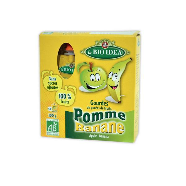 La Bio Idea - Gourdes Pomme Banane 4x100gr