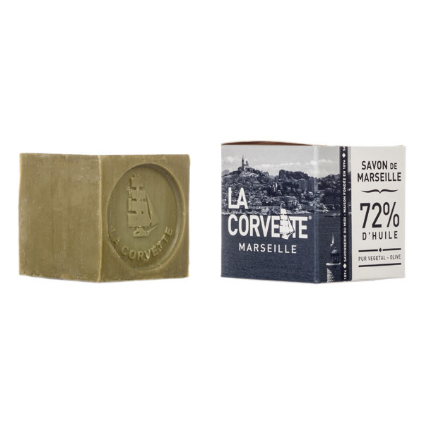 savon de marseille olive ecocert boite 100g la corvette acheter sur. Black Bedroom Furniture Sets. Home Design Ideas