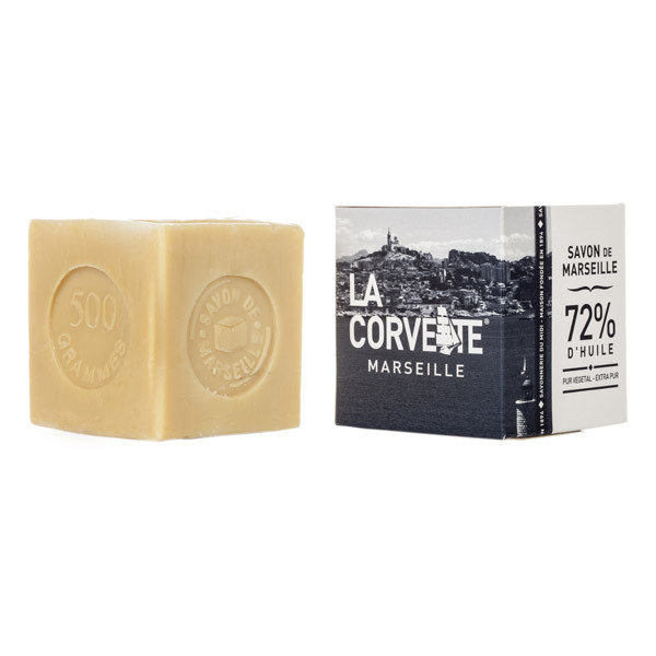 savon de marseille pur en bo te ecocert 500g la corvette acheter sur. Black Bedroom Furniture Sets. Home Design Ideas