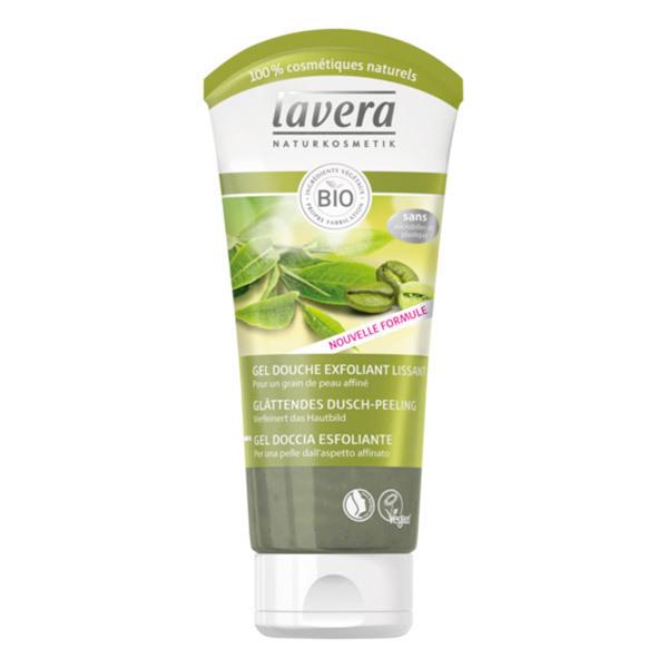 Lavera - Gel douche exfoliant lissant café vert bio & thé vert bio 200ml