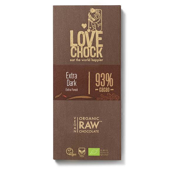 Lovechock - Tablette chocolat cru 93% Extra dark 70g