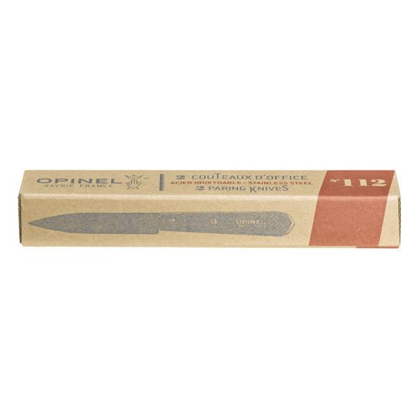 Opinel - Boîte de 2 couteaux d'office n°112 naturel