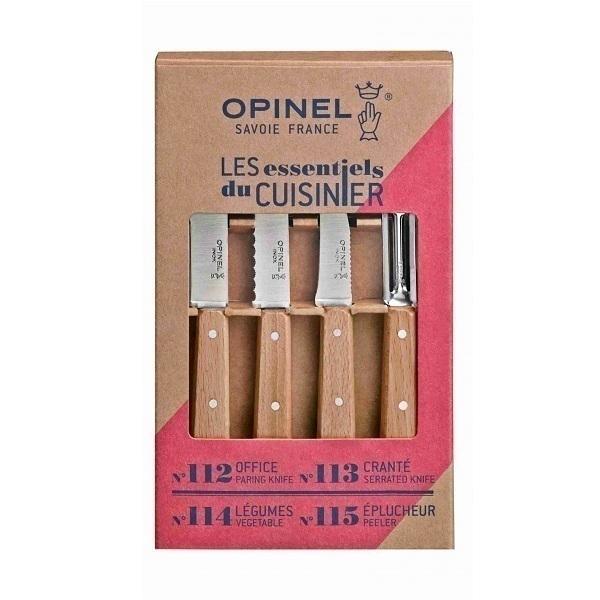 Opinel - Coffret 4 couteaux de cuisine Les Essentiels Naturel