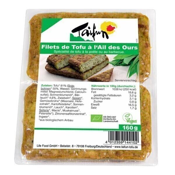 Taifun - Filet de tofu à l'ail des ours 2x80g