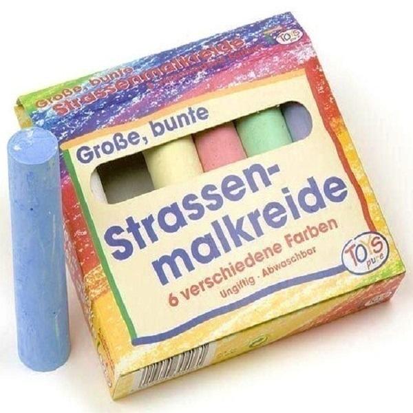 Toys Pure - 6 grandes craies de couleur