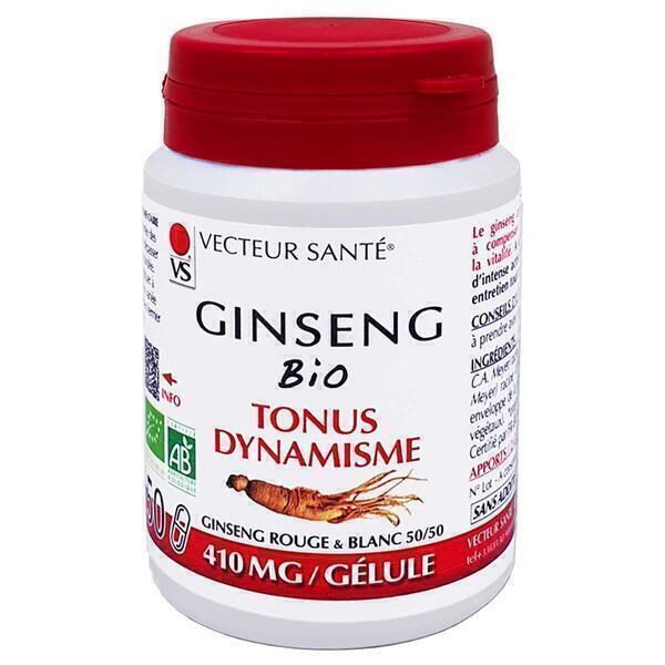 Vecteur Santé - Ginseng rouge & blanc bio - 50 gélules