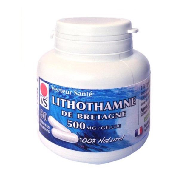 Vecteur Santé - Lithothamne breton 500mg - 80 gélules