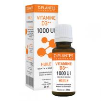 D.Plantes - Vitamine D3 Plus Huile 1000IU - Flacon de 20mL
