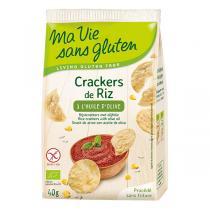 Ma Vie Sans Gluten - Crackers de riz à l'huile d'olive 40gr
