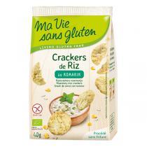 Ma Vie Sans Gluten - Crackers de riz au romarin 40gr
