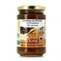 Noria - Confiture de pêche allégée 70% fruits BIO - 340g