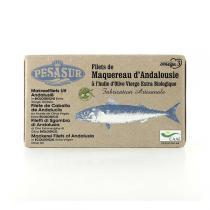 Pesasur - Filets Maquereau huile d'olive vierge extra BIO - 120g
