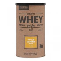 Purasana - Whey Protein Protéine de petit lait BIO goût vanille - 400g