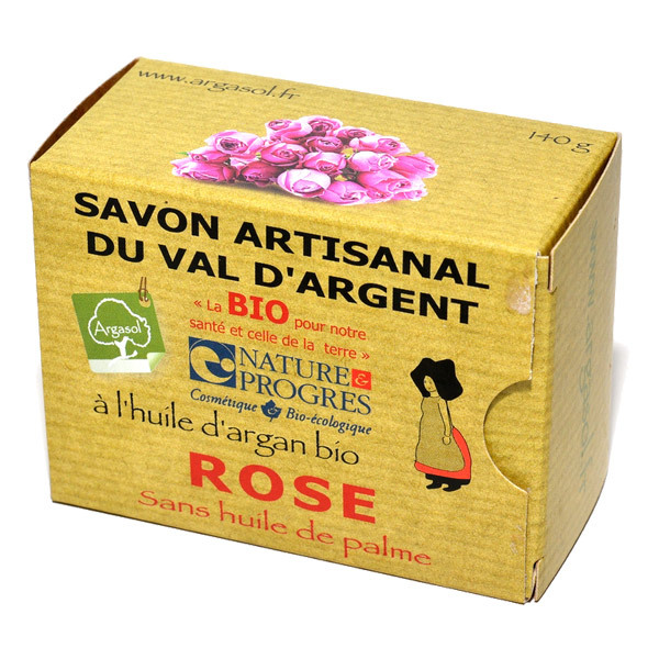 Argasol - Savon bio Rose 140gr