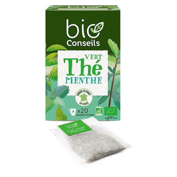Bio Conseils - Infusion de Thé vert Menthe Bio 20 sachets