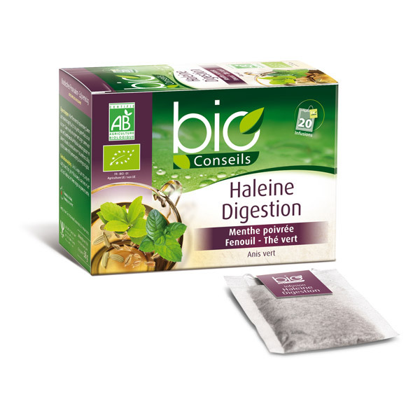 Bio Conseils - Infusion Haleine Digestion Bio 20 sachets