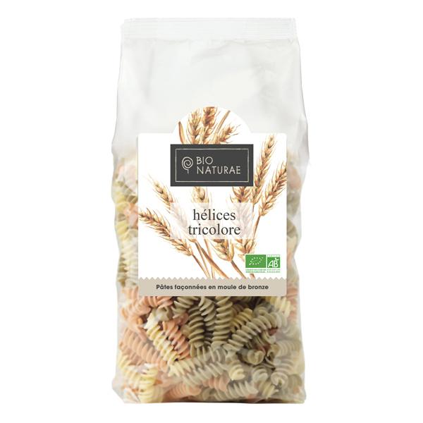 Bio Naturae - Pâtes italiennes Hélices tricolores 500gr