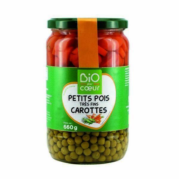 Petit pois carottes bio 660g bio par coeur acheter sur - Cuisiner petit pois carotte en boite ...