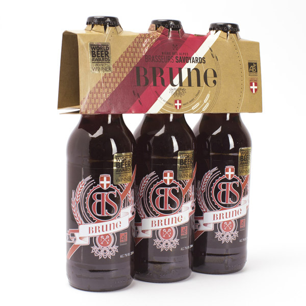 Brasseurs Savoyards - Bière BS Brune Bio 3x33cl