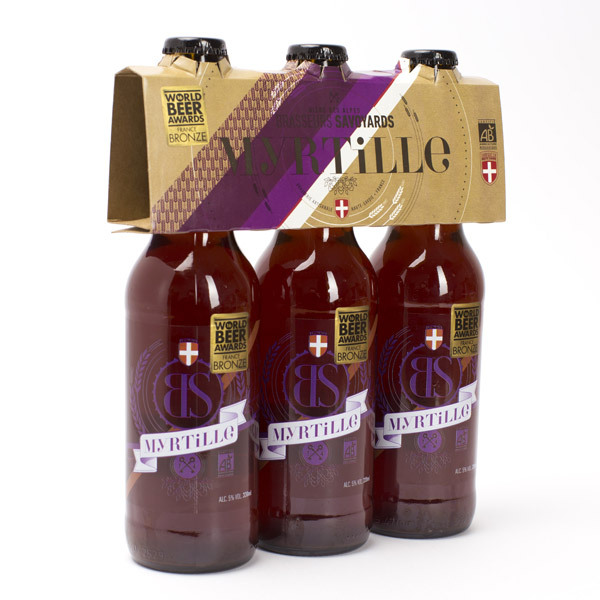 Brasseurs Savoyards - Bière BS Myrtille Bio 3x33cl