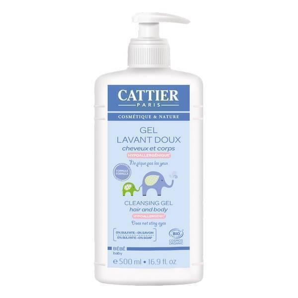 Cattier - Gel Lavant Doux bébé bio - 500 ml