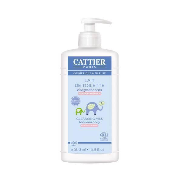 Cattier - Lait de Toilette bébé bio - 500 ml