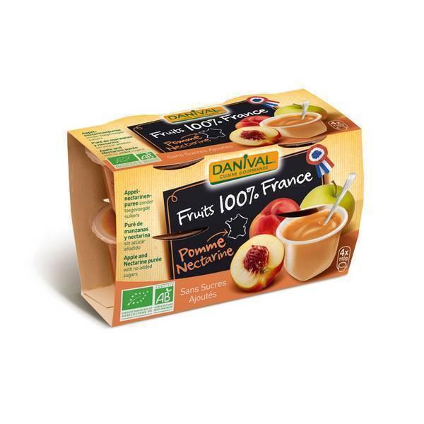 Danival - Purée Pommes-nectarine BIO 4 x 100g