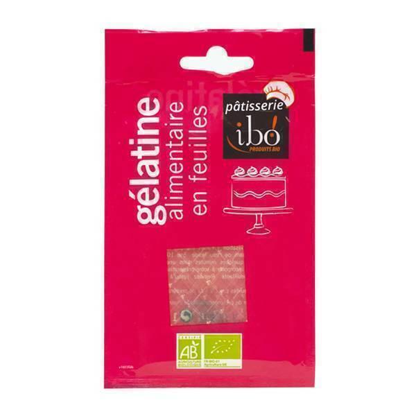 Ibo! - Gélatine alimentaire en feuilles BIO - 5 à 7 feuilles
