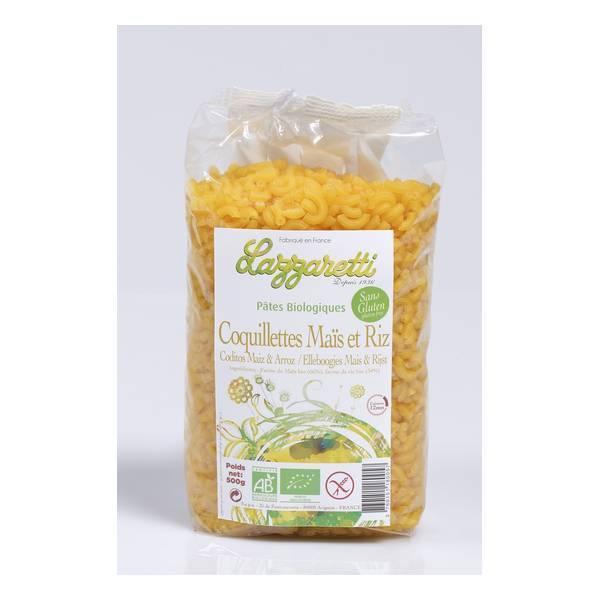 Lazzaretti - Coquillettes de Maïs et Riz bio 500g