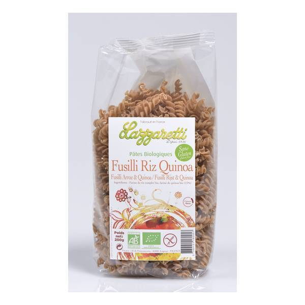 Lazzaretti - Fusilli de Riz et Quinoa bio 250g