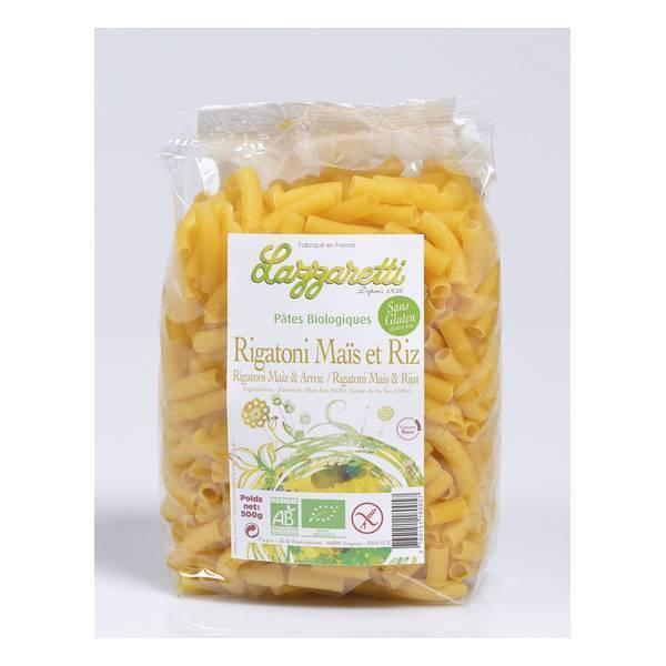 Lazzaretti - Rigatoni de Maïs et Riz bio 500g