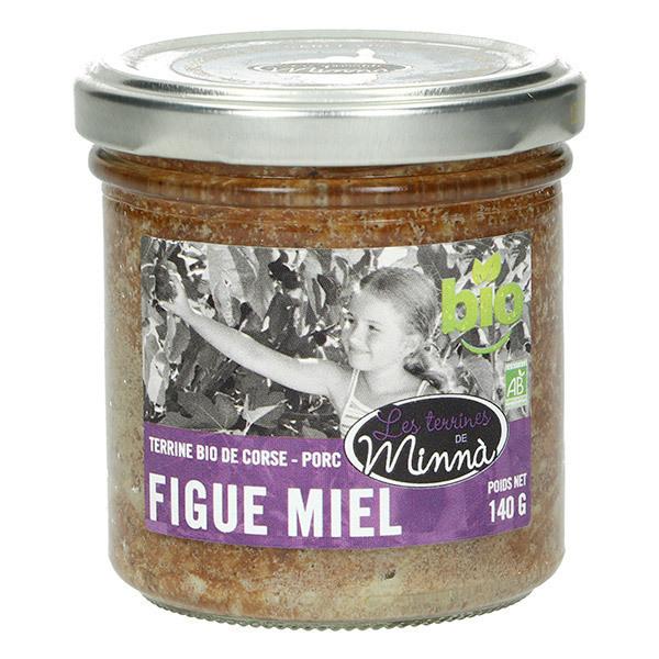 Les spécialités de Minnà - Terrine de porc figue et miel de corse 140g