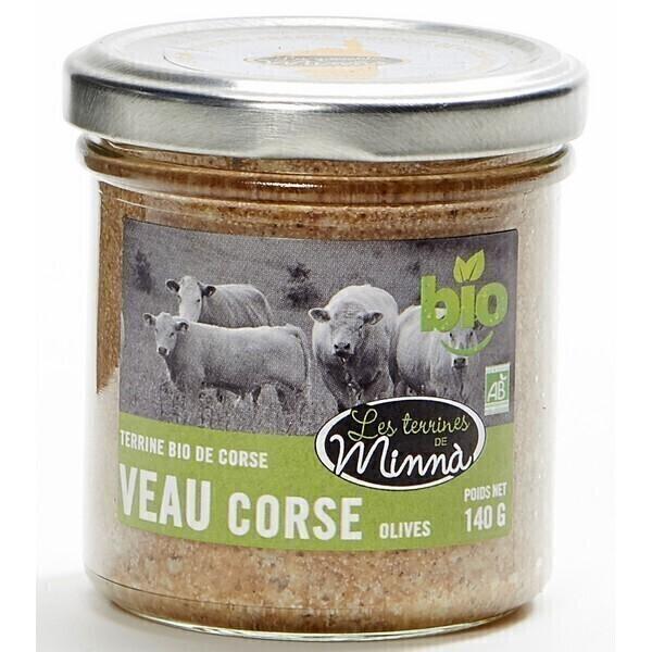 Les spécialités de Minnà - Terrine de veau corse aux olives 140g