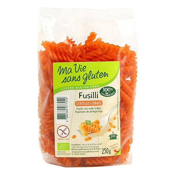 Ma Vie Sans Gluten - Fusillis lentilles corail 250g