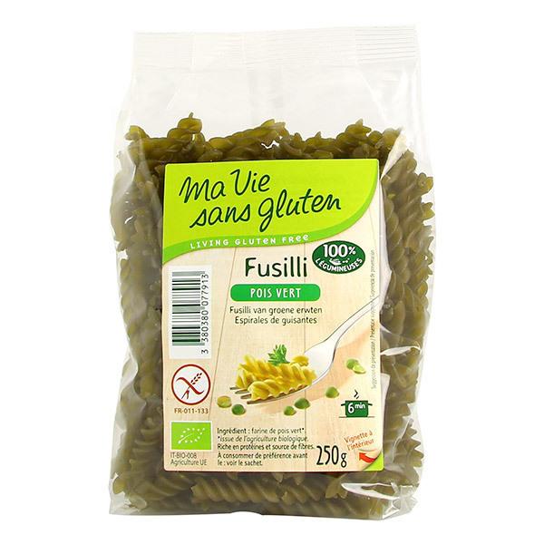Ma Vie Sans Gluten - Fusillis pois vert 250g