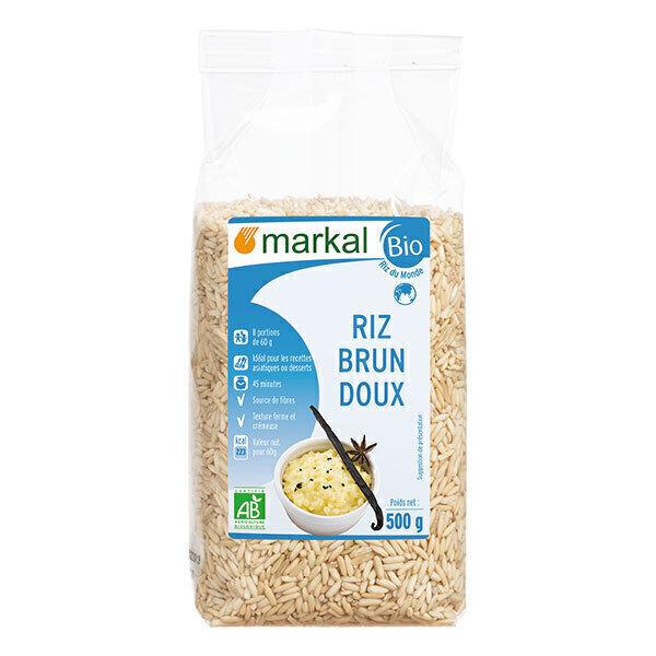 Markal - Riz brun doux glutineux 500g
