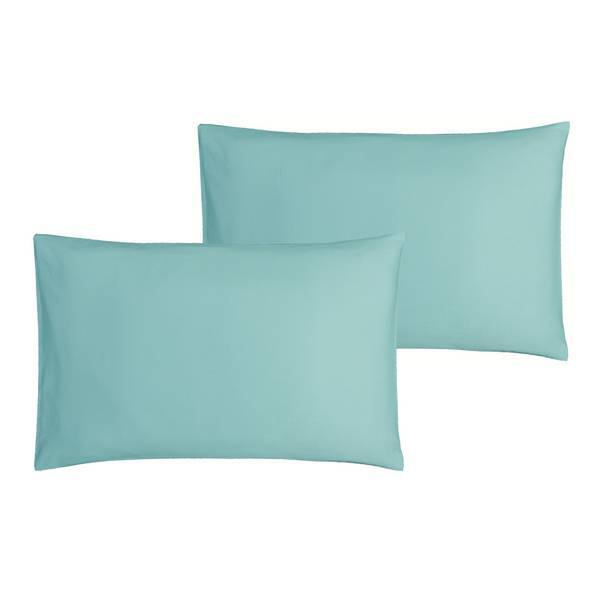 P'tit Basile - 2 Taies d'oreiller bébé 40x60 cm - Turquoise