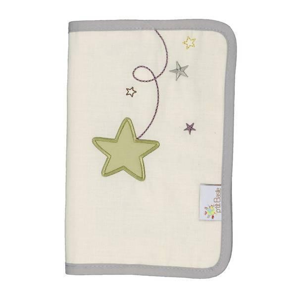 P'tit Basile - Protège carnet de santé Pluie d'étoiles