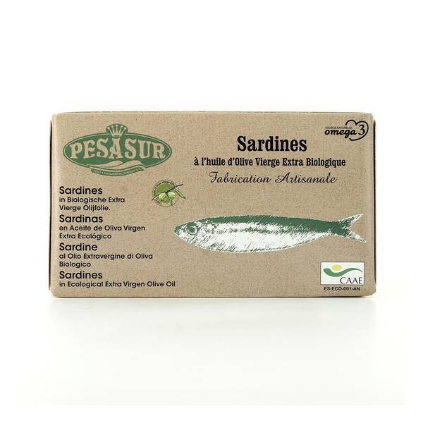 Pesasur - Sardines a l'huile d'olive vierge extra BIO - 120g