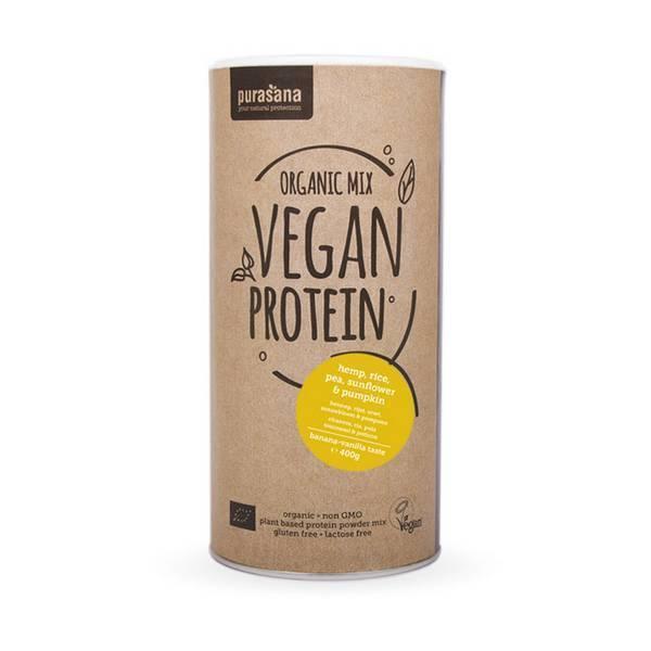 Purasana - Mix de Protéines BIO banane-vanille - 400g