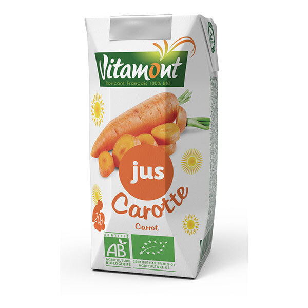 Vitamont - Jus de Carotte Bio Tetra Pak 20cl