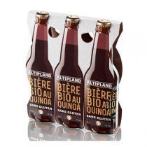 Altiplano - Bière BIO au Quinoa sans gluten- Tripack 3x33 cl