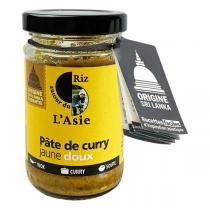 Autour du Riz - Pâte de curry jaune doux 100g