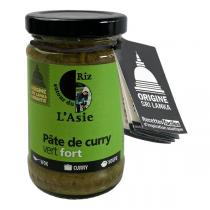 Autour du Riz - Pâte de curry vert Fort 100g