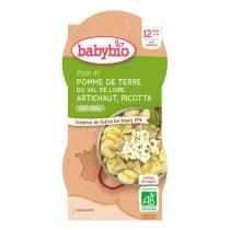 Babybio - Bol Pomme de terre Artichaut Ricotta 2x200g