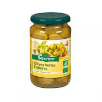 Bonneterre - Olives vertes entières BIO - 190g