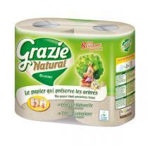 Grazie Natural - Essuie-Tout Compact Pack 2x2 rouleaux