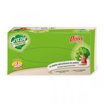 Grazie Natural - Pack de 4 boîtes de mouchoirs 3 plis, 80 feuilles