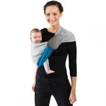 Je Porte Mon Bebe - Echarpe de portage sans noeud réversible Chiné/Bleu Canard