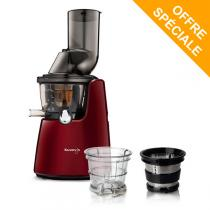 Kuvings - Pack Extracteur de jus Kuving's C9500 rouge + Kit smoothies